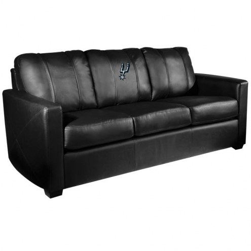 San Antonio Spurs XZipit Silver Sofa with Primary Logo