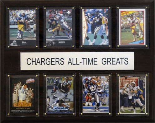 """San Diego Chargers 12"""" x 15"""" All-Time Greats Plaque"""