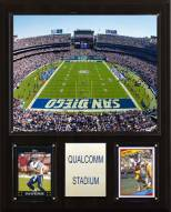 "San Diego Chargers 12"" x 15"" Stadium Plaque"