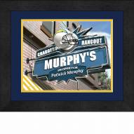 Los Angeles Chargers 13 x 16 Personalized Framed Sports Pub Print