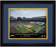 Los Angeles Chargers 13 x 16 Personalized Framed Stadium Print