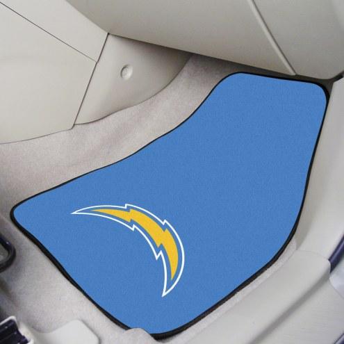 Los Angeles Chargers 2-Piece Carpet Car Mats