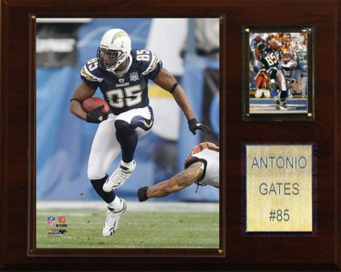 "San Diego Chargers Antonio Gates 12 x 15"" Player Plaque"