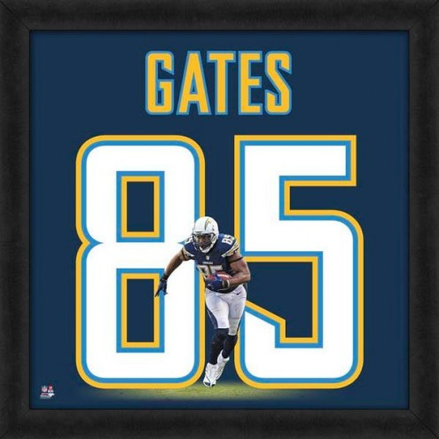 San Diego Chargers Antonio Gates Uniframe Framed Jersey Photo