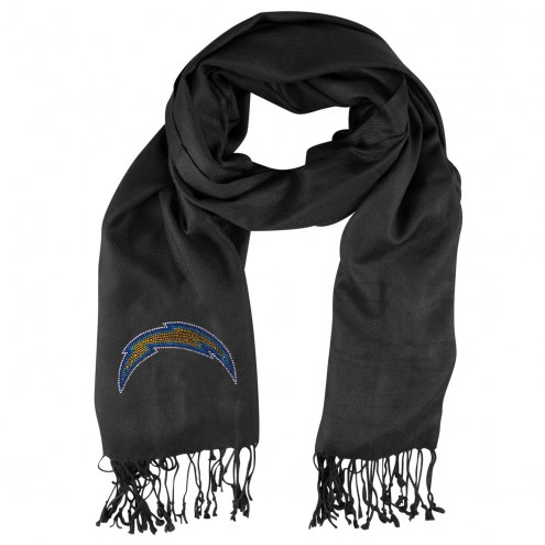 Los Angeles Chargers Black Pashi Fan Scarf