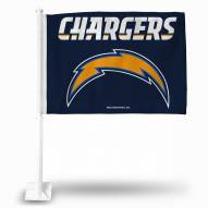 Los Angeles Chargers Bolt Car Flag