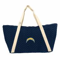 Los Angeles Chargers Chevron Stitch Weekender Bag