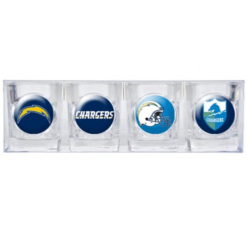 Los Angeles Chargers Collector's Shot Glass Set