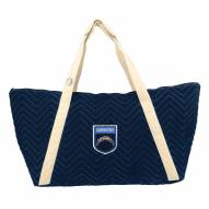 Los Angeles Chargers Crest Chevron Weekender Bag