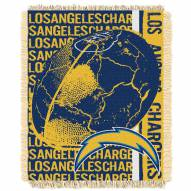 Los Angeles Chargers Double Play Jacquard Throw Blanket