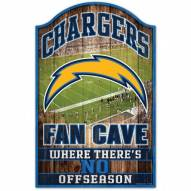 Los Angeles Chargers Fan Cave Wood Sign