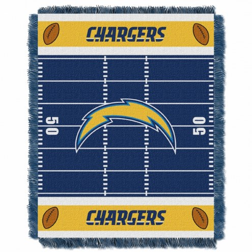 Los Angeles Chargers Field Baby Blanket