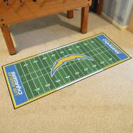 Los Angeles Chargers Football Field Runner Rug