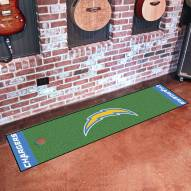 Los Angeles Chargers Golf Putting Green Mat