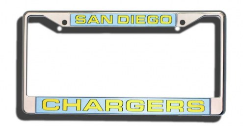 Los Angeles Chargers Laser Cut License Plate Frame