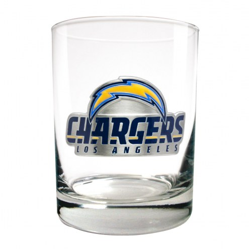 Los Angeles Chargers Logo Rocks Glass - Set of 2