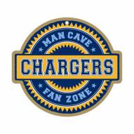 Los Angeles Chargers Man Cave Fan Zone Wood Sign