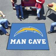 Los Angeles Chargers Man Cave Tailgate Mat