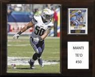 "San Diego Chargers Manti Te'o 12"" x 15"" Player Plaque"