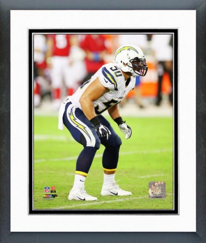 San Diego Chargers Manti Te'o Action Framed Photo