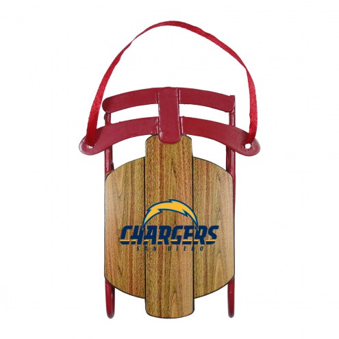 Los Angeles Chargers Metal Sled Tree Ornament