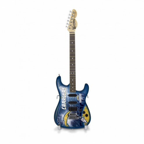 Los Angeles Chargers Mini Collectible Guitar