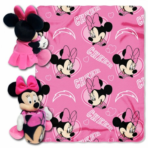 San Diego Chargers Minnie Mouse Throw Blanket