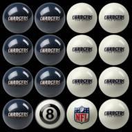 San Diego Chargers NFL Home vs. Away Pool Ball Set