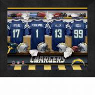 Los Angeles Chargers NFL Personalized Locker Room 11 x 14 Framed Photograph