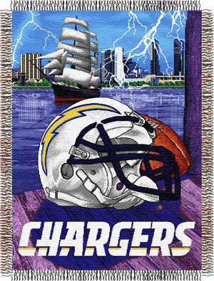 San Diego Chargers NFL Woven Tapestry Throw