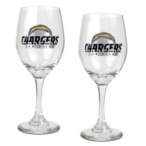 San Diego Chargers NFL Wine Glass - Set of 2
