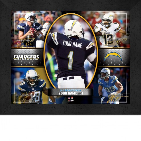 San Diego Chargers Personalized 11 x 14 Framed Action Collage