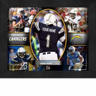 Los Angeles Chargers Personalized 11 x 14 Framed Action Collage