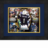 Los Angeles Chargers Personalized 13 x 16 Framed Action Collage