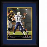 Los Angeles Chargers Personalized 13 x 16 NFL Action QB Framed Print