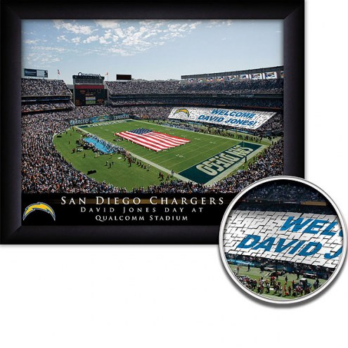 San Diego Chargers 11 x 14 Personalized Framed Stadium Print