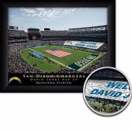Los Angeles Chargers 11 x 14 Personalized Framed Stadium Print