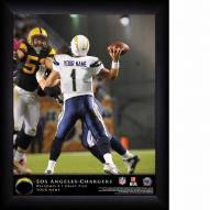 Los Angeles Chargers Personalized 11 x 14 NFL Action QB Framed Print