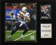 """San Diego Chargers Philip Rivers 12 x 15"""" Player Plaque"""