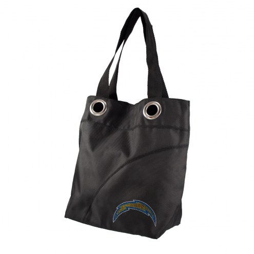 Los Angeles Chargers Sport Noir Sheen Tote