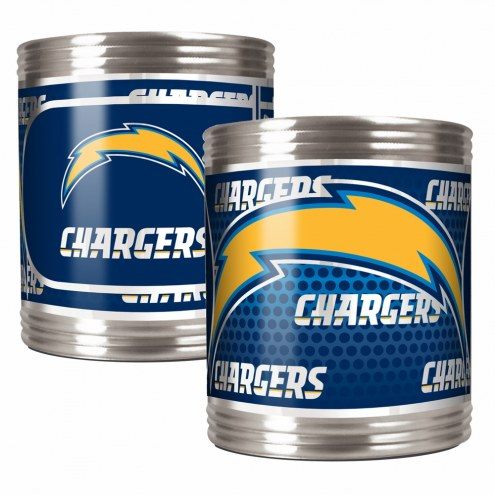 Los Angeles Chargers Stainless Steel Hi-Def Coozie Set