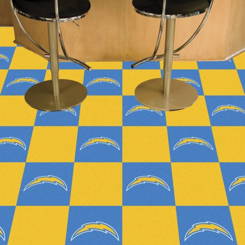 San Diego Chargers Team Carpet Tiles