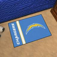Los Angeles Chargers Uniform Inspired Starter Rug