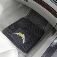 Los Angeles Chargers Vinyl 2-Piece Car Floor Mats