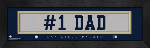 "San Diego Padres ""#1 Dad"" Stitched Jersey Framed Print"