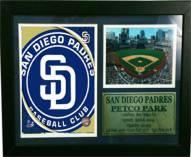 "San Diego Padres 12"" x 18"" Photo Stat Frame"