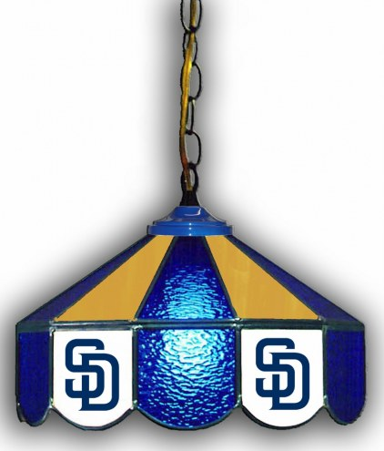 "San Diego Padres 14"" Glass Pub Lamp"