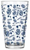 San Diego Padres 16 oz. All Over Print Pint Glass