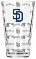 San Diego Padres 16 oz. Sandblasted Pint Glass