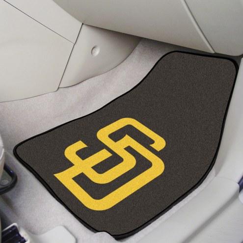 San Diego Padres 2-Piece Carpet Car Mats